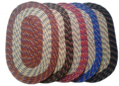 Chaitnya Handloom Cotton Medium Floor Mat multicolour Floor Mats