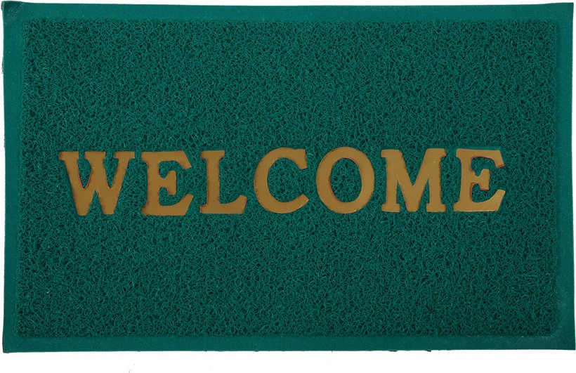 Floor Fashion PVC Medium Door Mat Welcome Door Mat class=