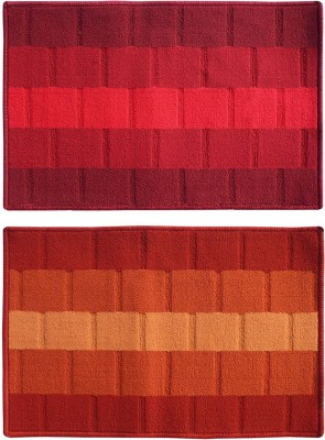Status Polypropylene Medium Floor Mat Iris_red_orange_2pcs