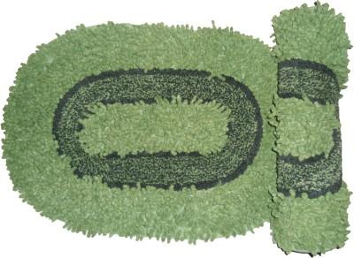 Ritika Carpets Cotton Medium Bath Mat Cottan Door Mat Set Of 2
