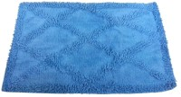 Kaksh Cotton Floor Mat Cotton Mat(Blue, Large)