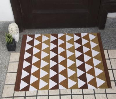House This Cotton Free Floor Mat Floor Rug(Brown, 1 Floor Mat)