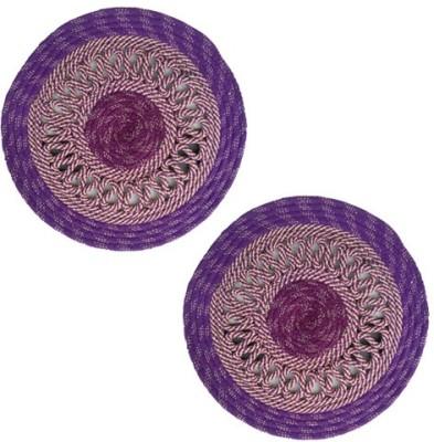 Firangi Cotton, Polyester Free Floor Mat Firangi Designer Round Door Mat