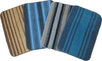 Krishna Carpets Polyester Medium Door Mat Stripes