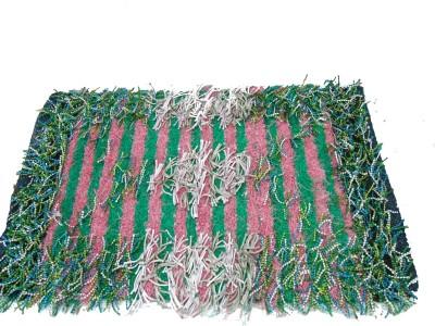 Mrignayaneei Cotton, Acrylic, Silk Medium Door Mat Cotton Mat
