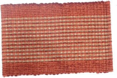 Home Fashion Polyester Medium Door Mat Red Feather Rib Door Mat