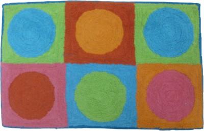 Krishna Carpets Cotton Medium Door Mat Cotton Mat