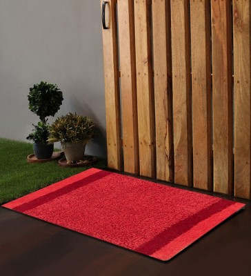 POBO Cotton Medium Door Mat Po Box Milange Red & Coral 1 Bath Rug 24
