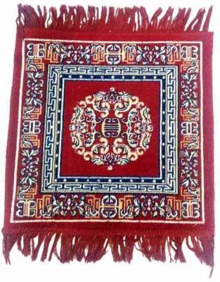 Optimistic Home Furnishing Polyester Medium Floor Mat Optimistichomefurnishing Puja Asan