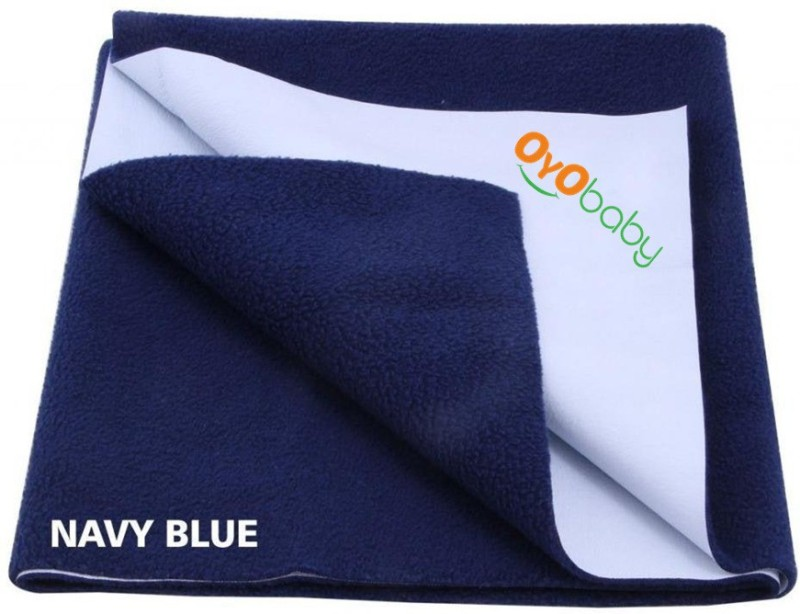 Oyo Baby Cotton Changing Mat Baby Care Sheet(Dark Blue, Large)