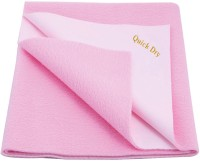 Quick Dry Cotton Medium Baby Bed Protecting Mat Mat Pink medium(Pink)