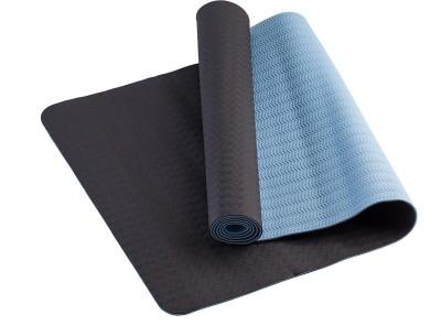 TVALA Microfiber Large Yoga and Exercise Mat Reversible Yoga Mat with Highly Antiskid - Black/Aquamarim