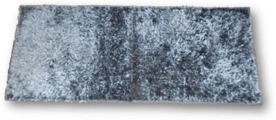 Sudesh Handloom Velvet, Polyester Medium Floor Mat Sudesh Handloom Imported Stuff Plain Grey Rug