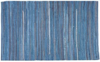 Homenblingss Cotton Small Door Mat Solid Blue Rug