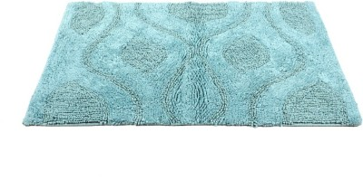 Homefurry Blue Bed Flower Cotton Large Bath Mat Bath Mat, Bath Rugs