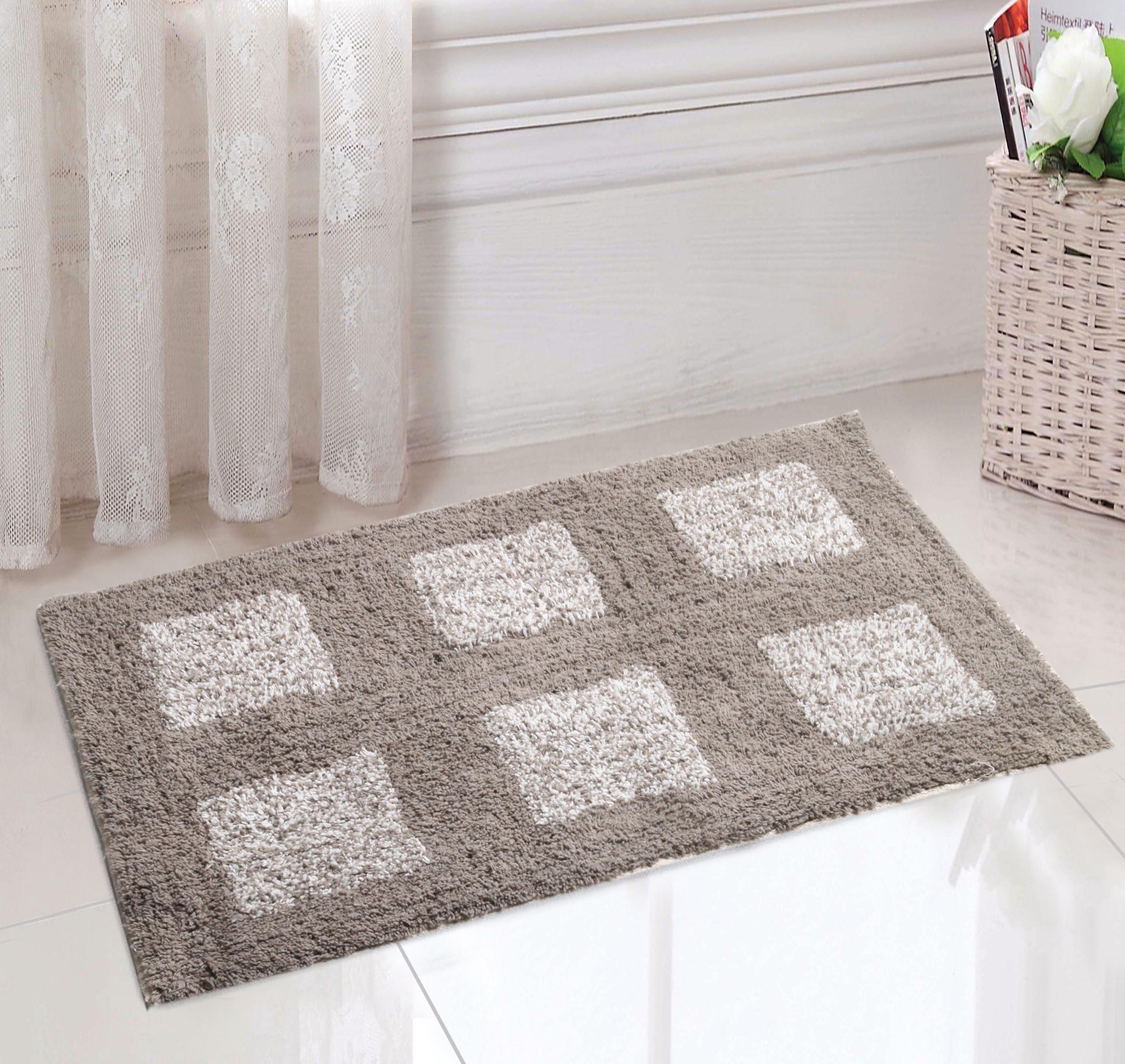 Saral Home Cotton Small Bath Mat Bathmat