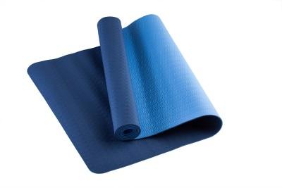 TVALA Microfiber Large Yoga and Exercise Mat Reversible Yoga Mat with Highly Antiskid - Blue/Aquamarin