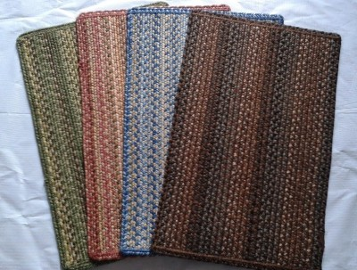 Passion Exports Polyester Small Door Mat Braided Door Mat Set of 4 Colors