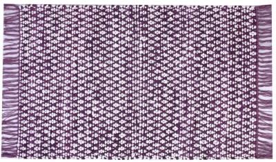 Homenblingss Cotton Small Door Mat Asterix Purple Rug