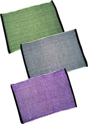 Homefab India Cotton Small Floor Mat Handmade Rugs