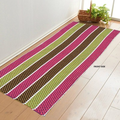 Younique Cotton Large Floor Mat Double Side Cotton Hand Woven Runner (72 Inches X 24 Inches)