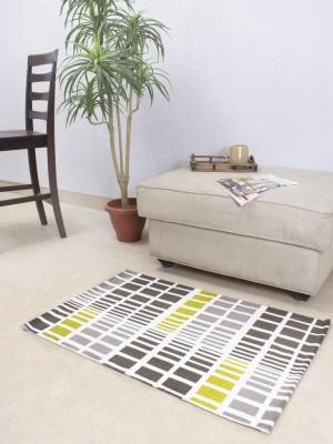 House This Cotton Medium Floor Mat Floor Rug(Green, 1 Floor Rug)