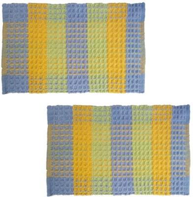 Firangi Cotton, Polyester Free Floor Mat Firangi Designer Cube Door Mat