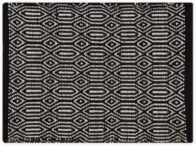 Po Box Cotton Free Floor Mat Floor Rug(Black, 1 Floor Mat)