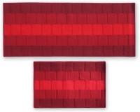 Status Nylon Door Mat IRIS_COMBO_RED_DM+RUNNER(Multicolor, Medium)