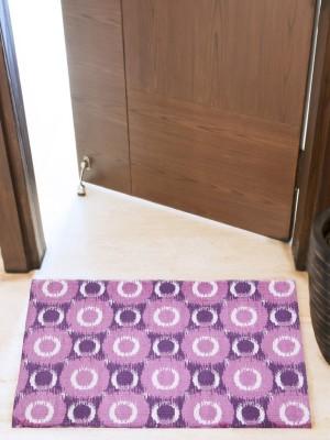 House This Cotton Small Floor Mat Floor Rug(Purple, 1 Floor Rug)
