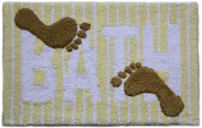 Paramorasi Cotton Medium Bath Mat Marina Yellow