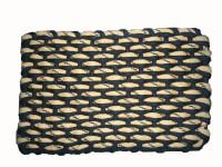 Mrignayaneei Cotton Medium Prayer Mat Cotton(Brown, Light Orange)