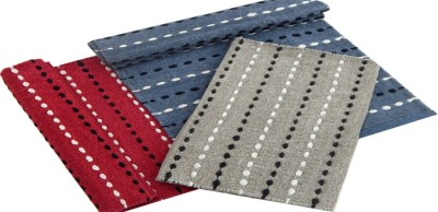 Peponi Cotton Large Floor Mat Peponi Set of Three Cotton Bedside Runner Mat (Available in multi color)
