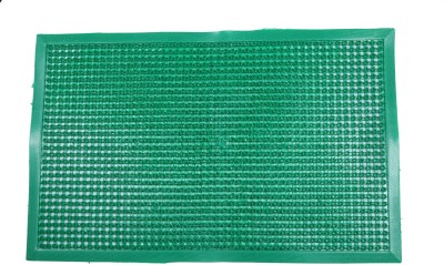 Nitin traders Plastic Small Floor Mat Green Leather