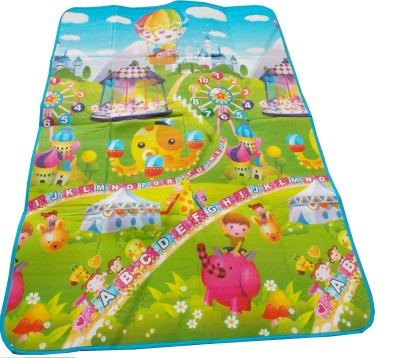 Glitter Collection Polyester Pongee Large Play Mat Glitter Kids, Double Sided Mat ,Alphabte