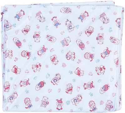 Stuff Jam Plastic Extra Large Sleeping Mat White With Red Print Plastic Sheet - Double Xtra Large