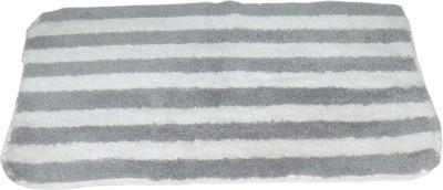 ACASA Cotton Free Bath Mat BATH MAT(Grey, White, 1 MAT, 1 CONTOUR)