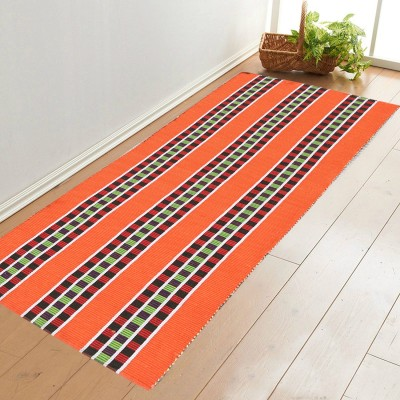 Younique Cotton Large Floor Mat Cotton HandWoven Runner (72 Inches X 24 Inches)