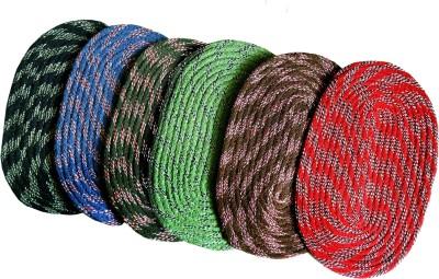 India Furnish Cotton Medium Door Mat India Furnish Cotton Designer Oval Footmat - Set of 6 (14