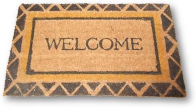 Sudesh Handloom Jute, Rubber Medium Door Mat Jute Reshe Welcome Design Jute Front Door Mat
