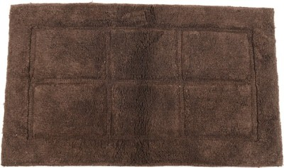 Homefurry Coffee Brown Windy Window Cotton Large Bath Mat Bath Mat, Bath Rugs