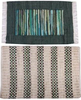 Homenblingss Cotton Small Door Mat Combo Offer Rugs
