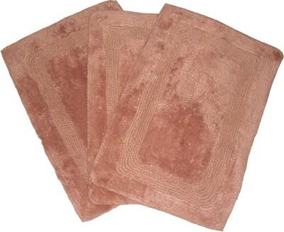 Ritika Carpets Cotton Medium Door Mat Cottan Door Mat Set Of 3
