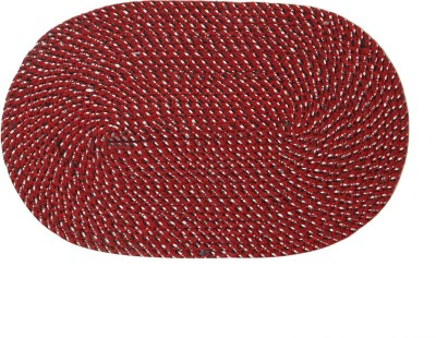 Calico Touch Polyester Medium Door Mat Polycotton Oval Shape