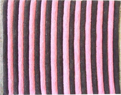 Shopgalore Cotton Medium Door Mat Double Striped