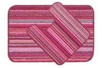 Saral Home Polyester Medium Anti-slip/Anti-grease Mat Polyester Mat(Pink)