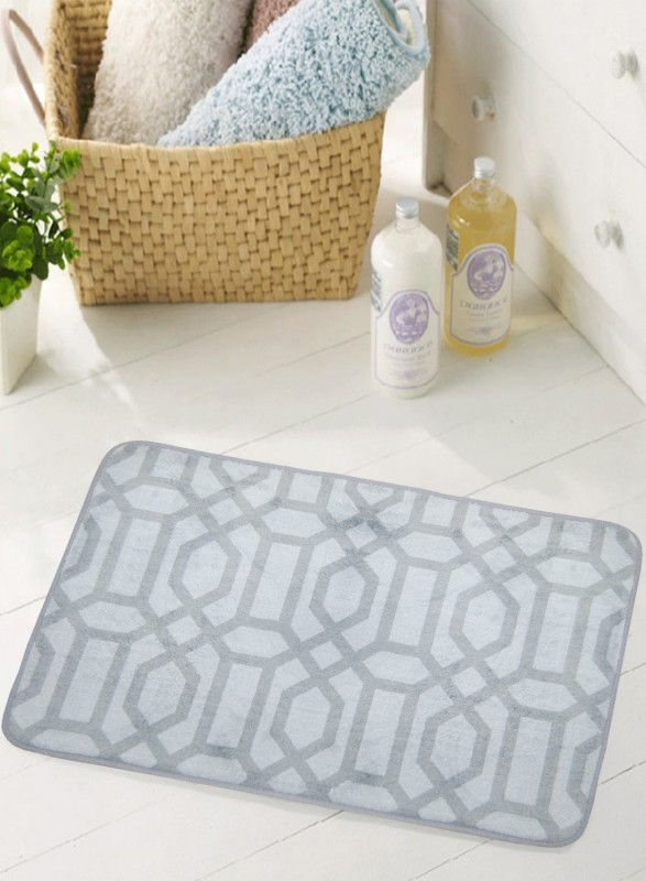 BIANCA Microfiber Anti-slip/Anti-grease Mat BATH MAT(Grey, Medium)