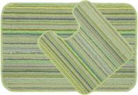 Saral Home Polyester Medium Anti-slip/Anti-grease Mat SOS-745(Green, 2 Pcs.)