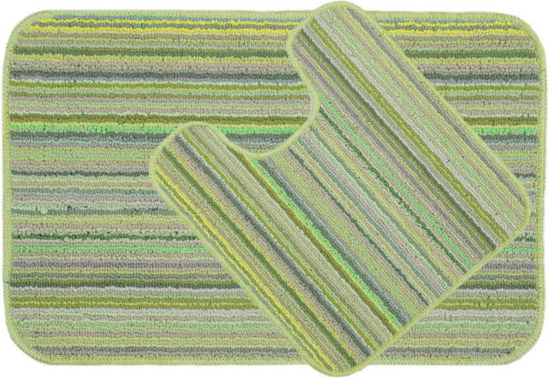 Saral Home Polyester Anti-slip/Anti-grease Mat SOS-745(Green, Medium)
