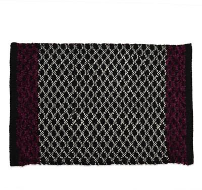 Firangi Cotton, Polyester Free Door Mat Firangi Decorative Diamond Violet Door Mat